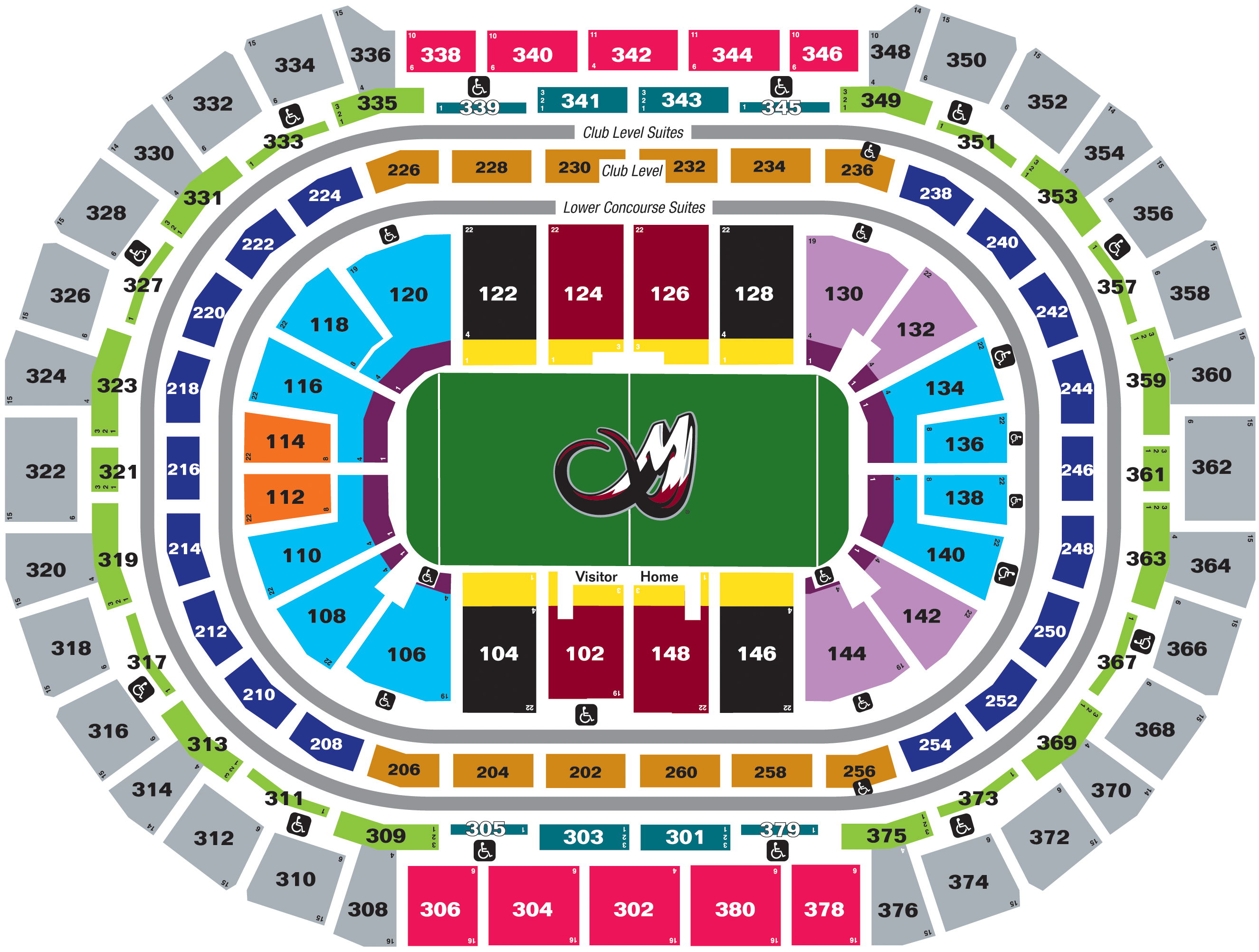 Seating Charts Pepsi Center